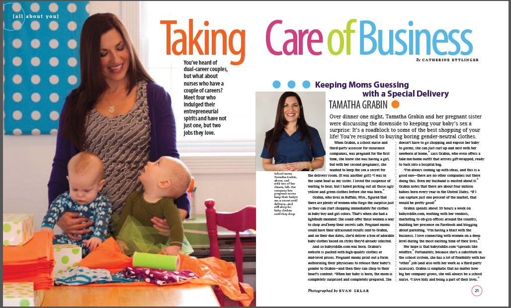 Baby Riddle Featured in Scrubs Magazine